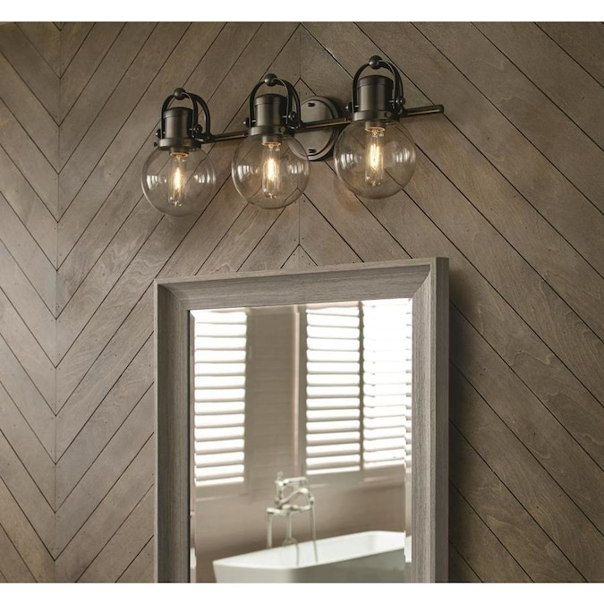 allen + roth Finley 3-Light Bronze Coastal Vanity Light in ...