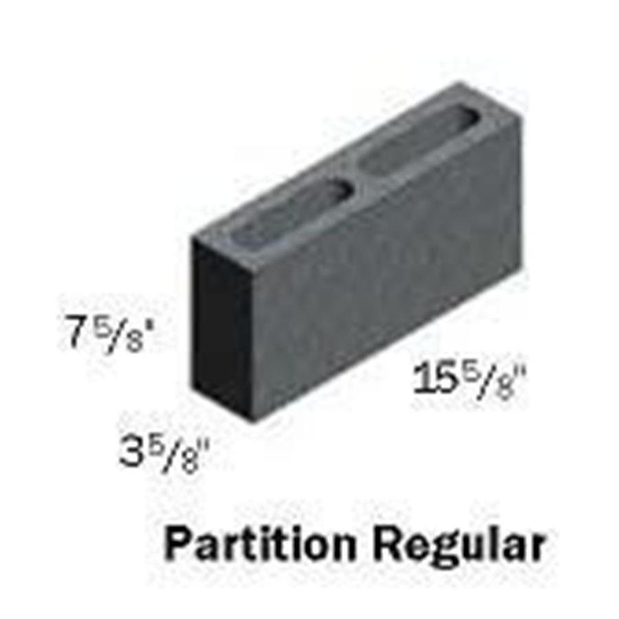 (Common: 4-in x 8-in x 16-in; Actual: 3.625-in x 7.625-in x 15.625-in) Standard Cored Concrete Block