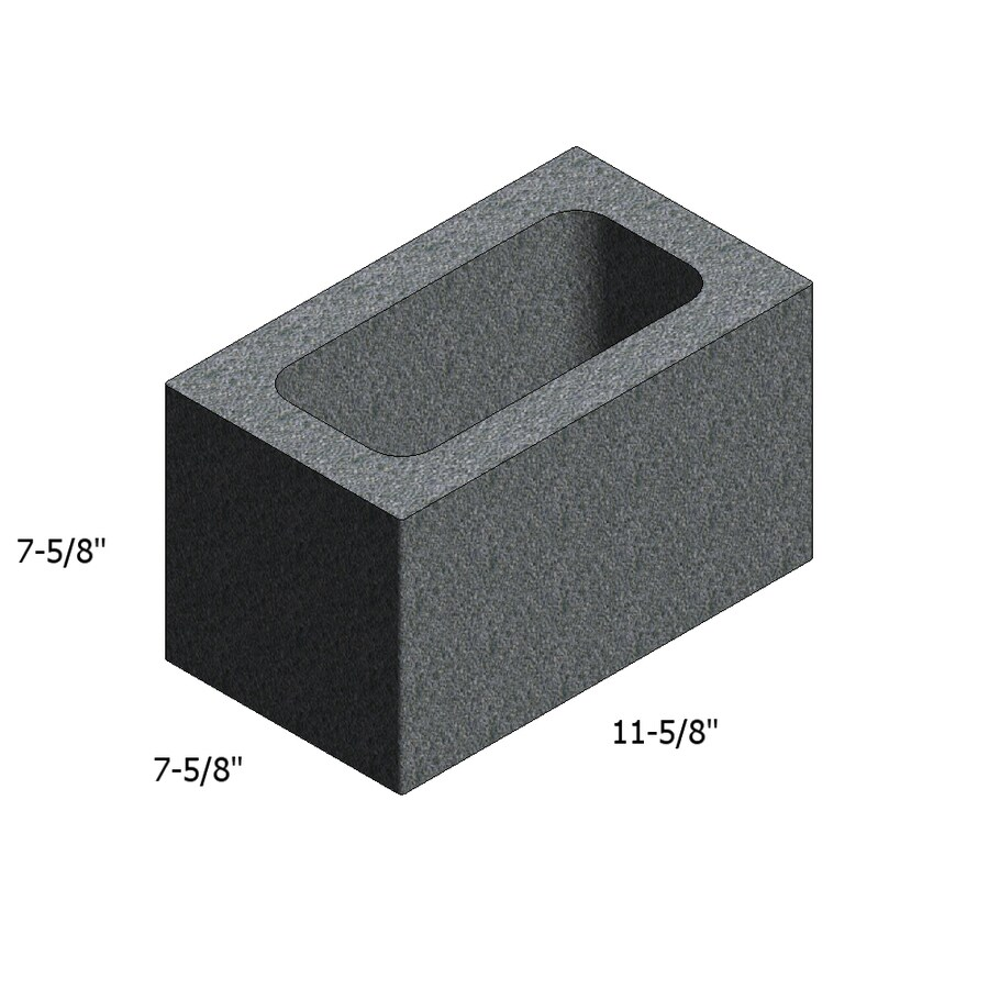 Tarmac Normal Weight Concrete Block (Common: 8-in x 8-in x 12-in; Actual: 7.625-in x 7.625-in x 11.625-in)