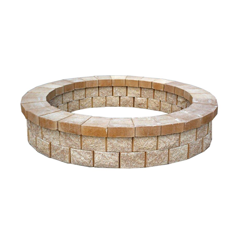 Titan Florida 81-in W River Rock Stone Wood-Burning Fire Pit