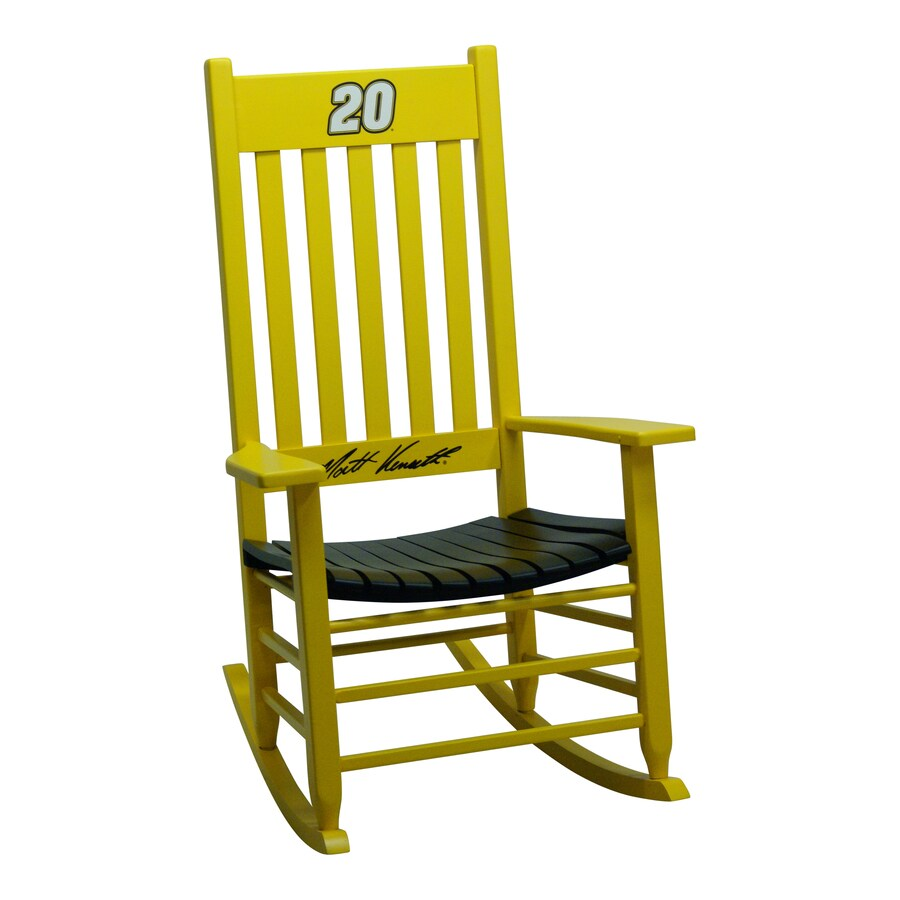 Hinkle Chair Company Hinkle Nascar Rockers Yellow/Black Rocking Chair