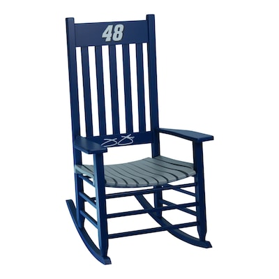 Awesome Hinkle Chair Company Hinkle Nascar Rockers Blue Gray Rocking Andrewgaddart Wooden Chair Designs For Living Room Andrewgaddartcom