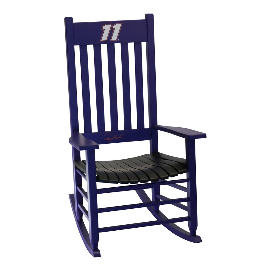 Hinkle Chair Company Hinkle Nascar Rockers Purple/Black Rocking Chair