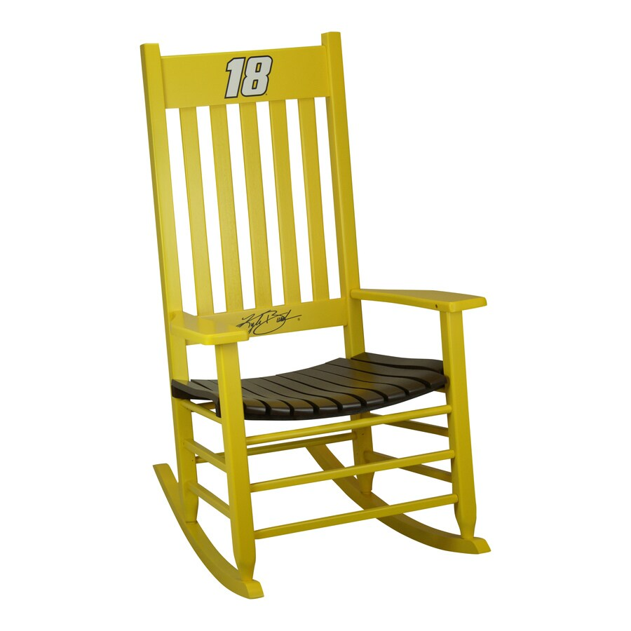 Hinkle Chair Company Hinkle Nascar Rockers Yellow/Brown Rocking Chair