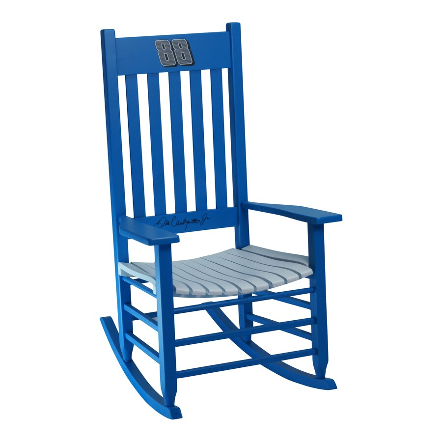 Hinkle Chair Company Hinkle Nascar Rockers Blue/White Rocking Chair