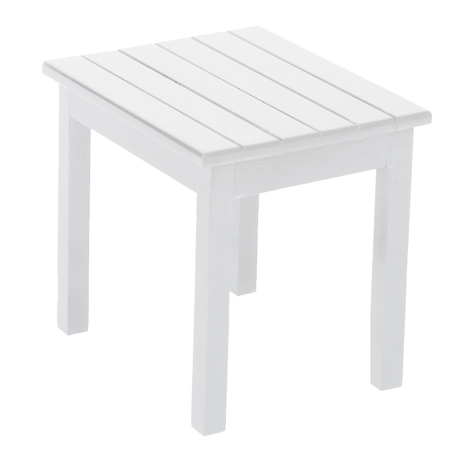 Shop garden treasures 19 in x 16 in white wood rectangle for White patio table