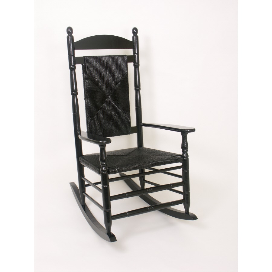 Garden Treasures Black Outdoor Rocker