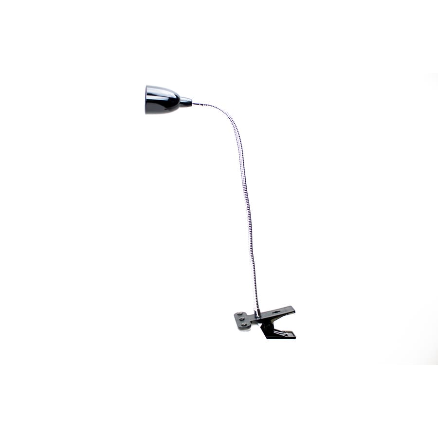 2.75-in Adjustable Black LED Clip Desk Lamp with Shade