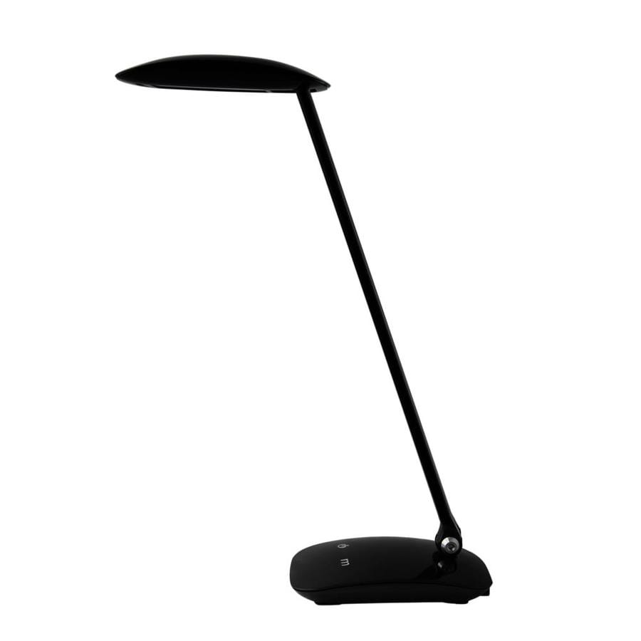 2-in Adjustable Black LED Touch On/Off Desk Lamp with Shade