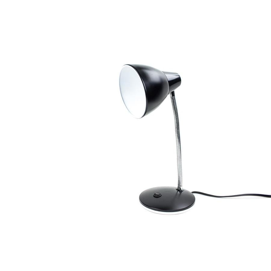 14.75-in Adjustable Black Contemporary/Modern Integrated Desk Lamp with Shade