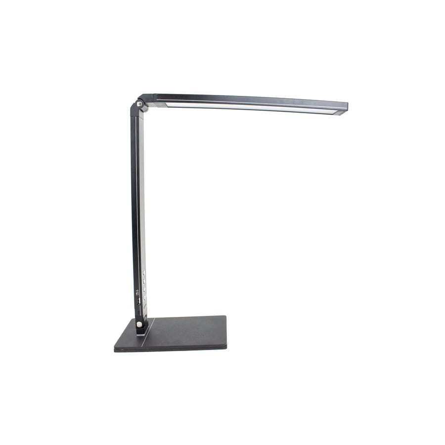 Newhouse Lighting 20 In Adjule Black Led Touch Swing Arm Desk Lamp With Shade
