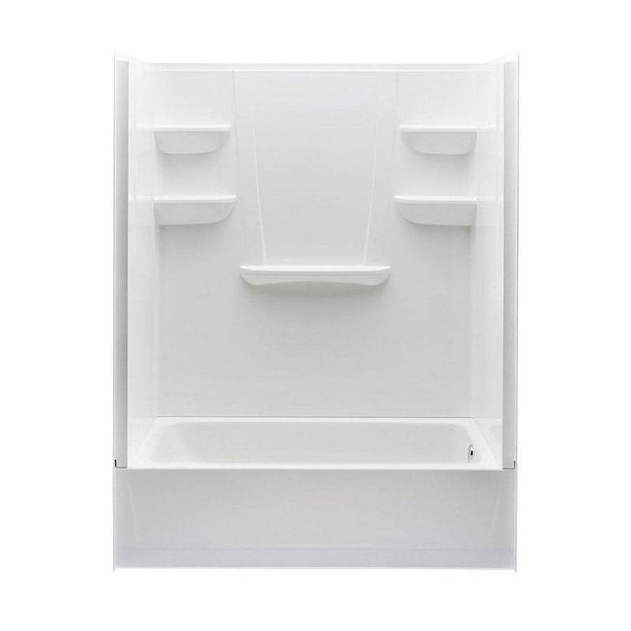 A2 White 4 Piece Bathtub Shower Kit Common 30 In X 60 In