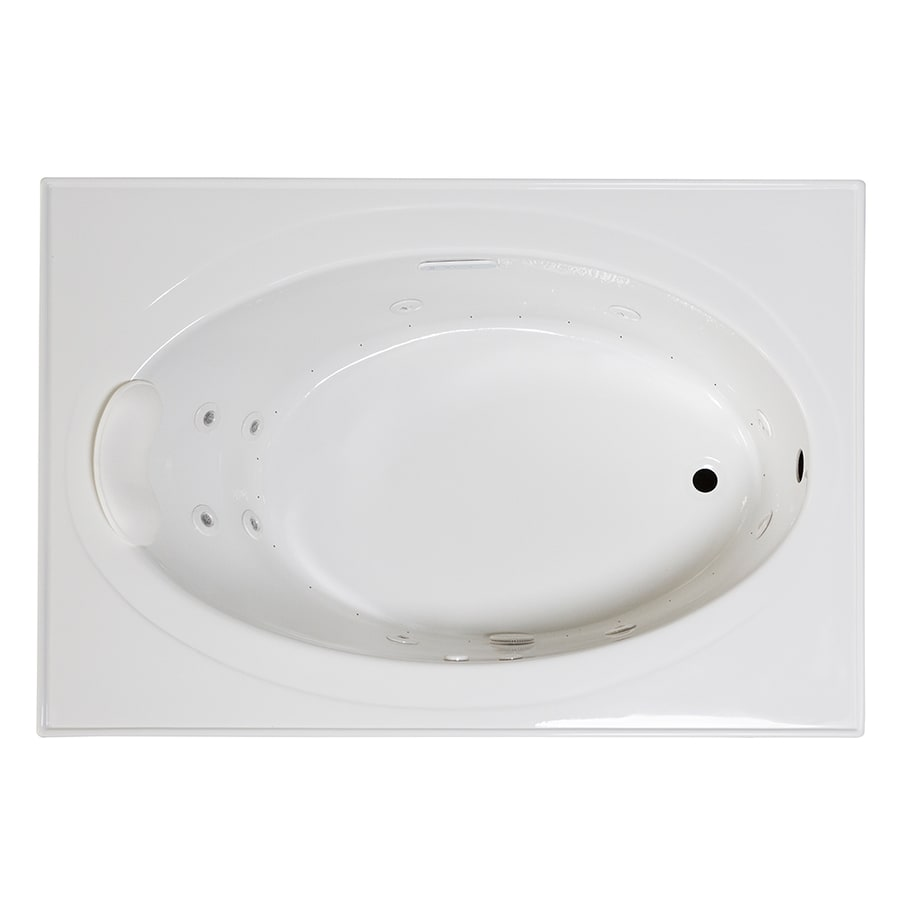 Laurel Mountain Everson 1 59-in White Acrylic Drop-In Whirlpool Tub And Air Bath with Reversible Drain