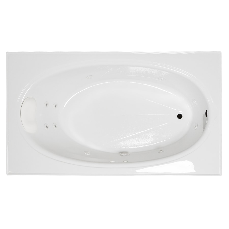 Laurel Mountain Everson 2 72-in White Acrylic Drop-In Whirpool Tub with Reversible Drain