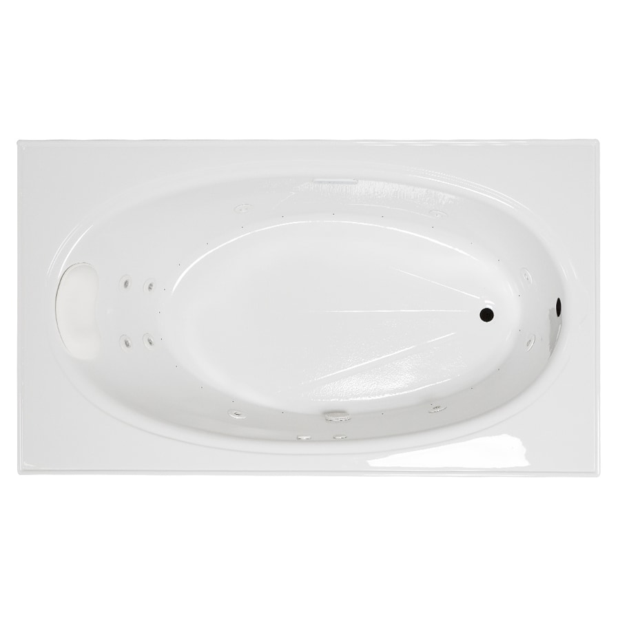 Laurel Mountain Everson 2 72-in White Acrylic Drop-In Whirlpool Tub And Air Bath with Reversible Drain