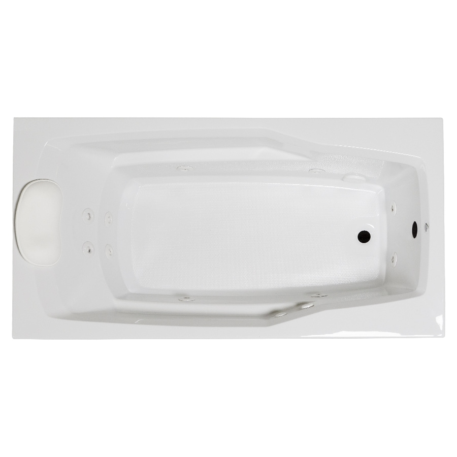 Laurel Mountain Withams 60-in White Acrylic Drop-In Whirpool Tub with Reversible Drain