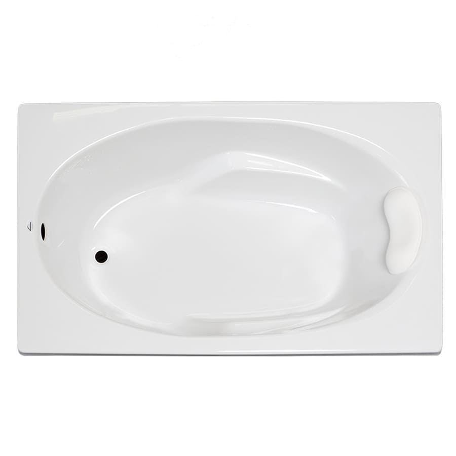 Laurel Mountain Faber 59-in White Acrylic Drop-In Bathtub with Reversible Drain