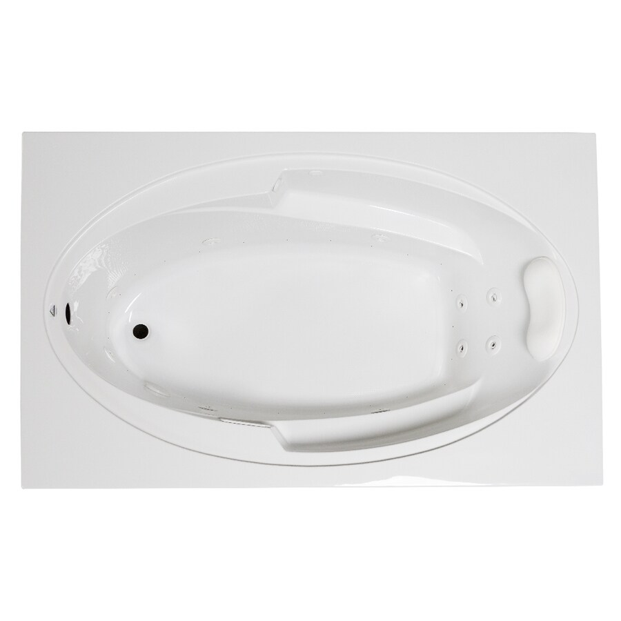 Laurel Mountain Galaxy 66-in White Acrylic Drop-In Whirlpool Tub And Air Bath with Reversible Drain