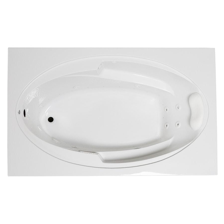 Shop Laurel Mountain Galaxy 66-in White Acrylic Drop-In Whirlpool ...