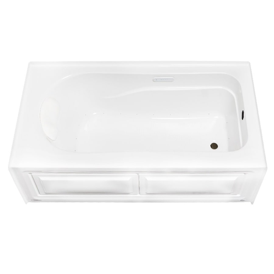 Laurel Mountain Stephen 60-in White Acrylic Alcove Air Bath with Right-Hand Drain