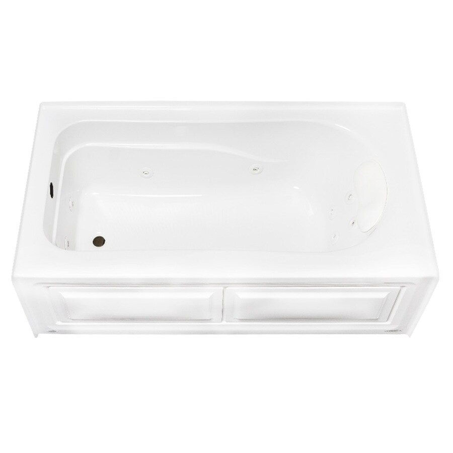 Laurel Mountain Stephen 60-in White Acrylic Alcove Whirpool Tub with Left-Hand Drain