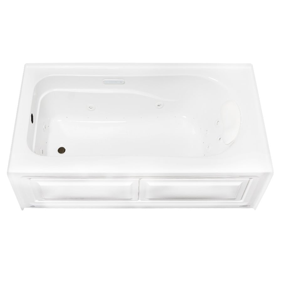 Laurel Mountain Stephen 60-in White Acrylic Alcove Whirlpool Tub And Air Bath with Left-Hand Drain