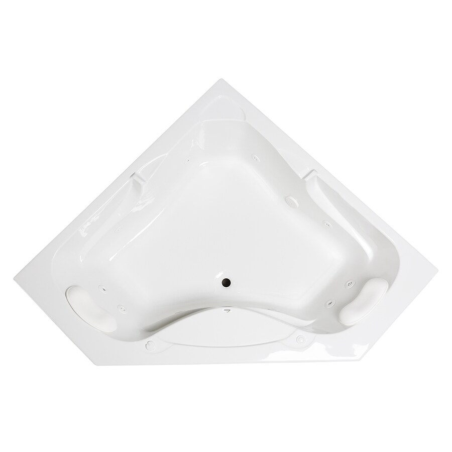Laurel Mountain Markham 59.5-in White Acrylic Drop-In Whirpool Tub with Front Center Drain