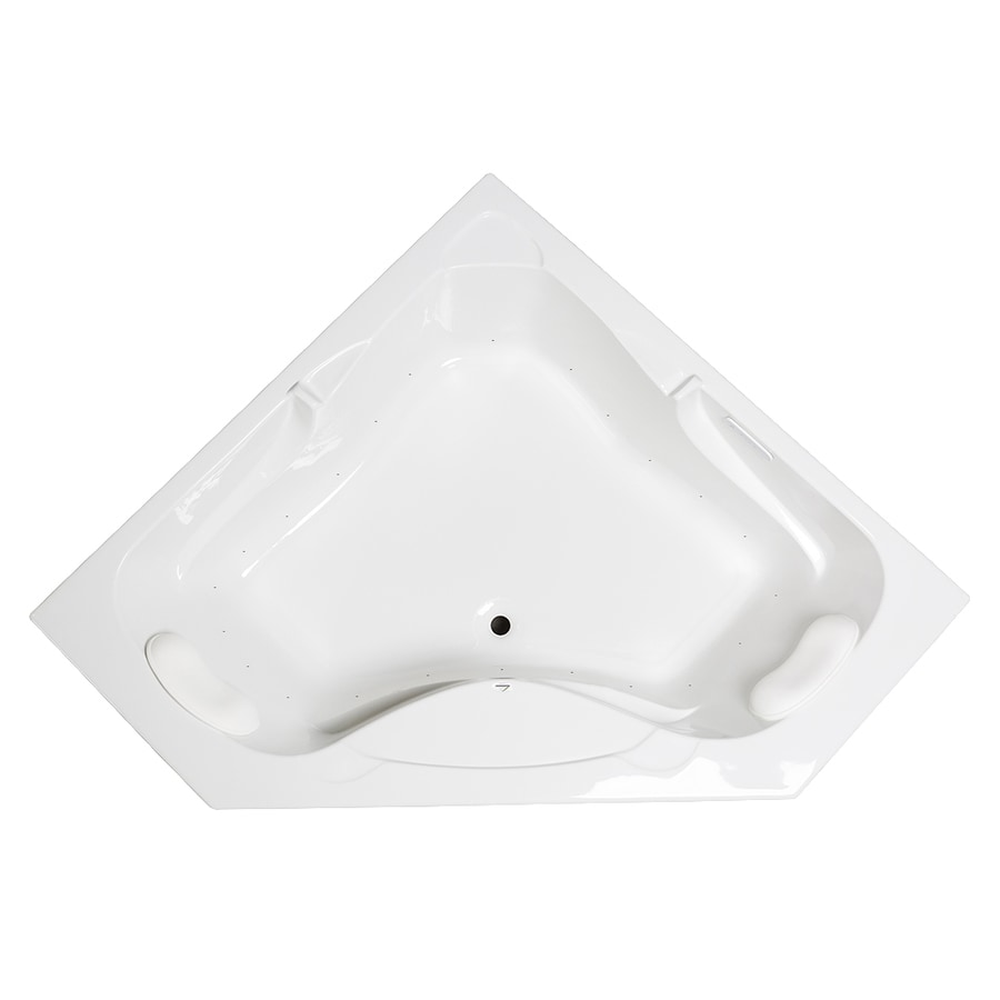 Laurel Mountain Markham 59.5-in White Acrylic Drop-In Air Bath with Front Center Drain