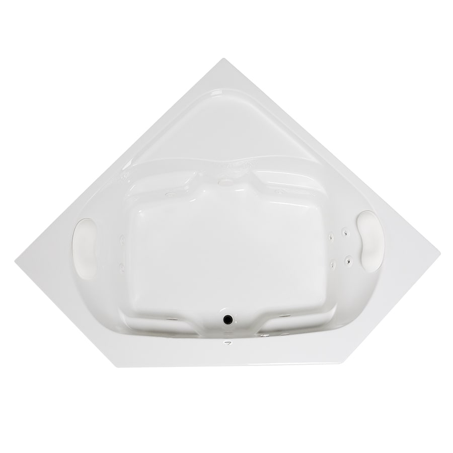 Laurel Mountain Lorton 60-in White Acrylic Drop-In Whirpool Tub with Front Center Drain