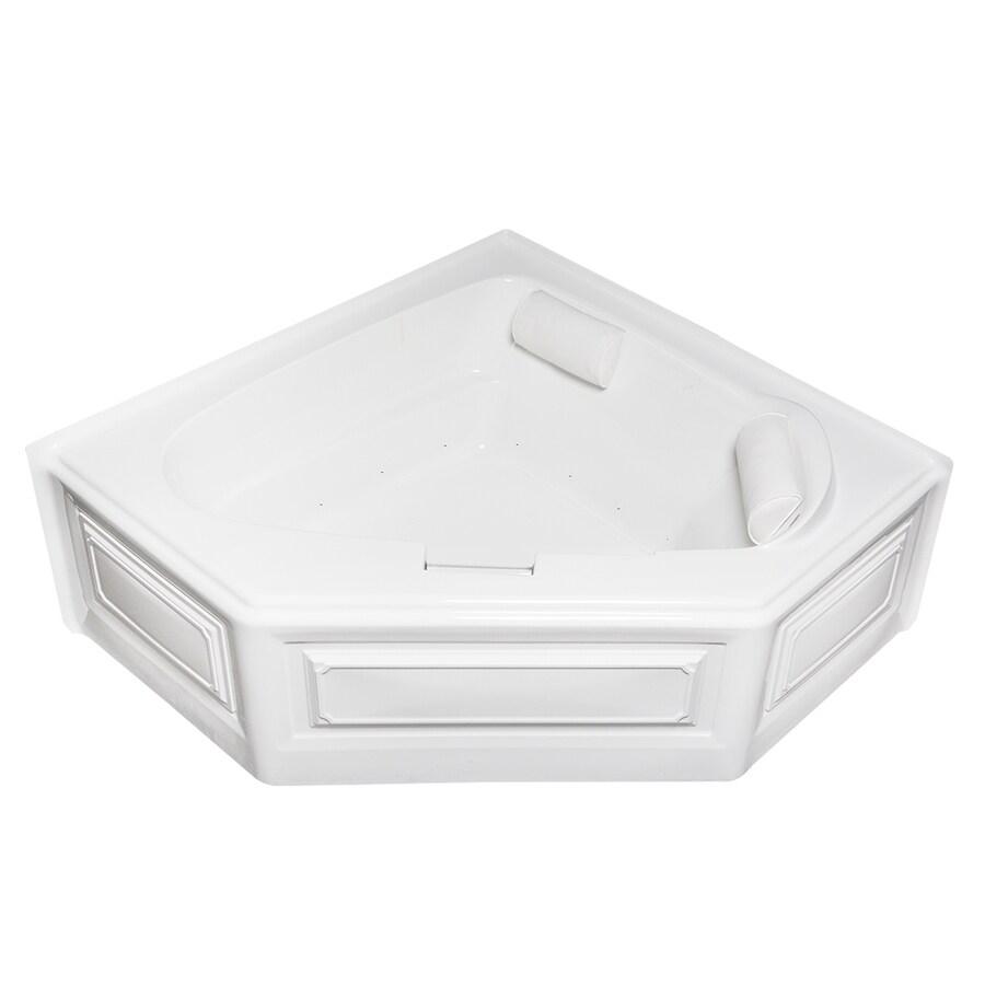 Laurel Mountain Hinton 60.5-in White Acrylic Skirted Air Bath with Left-Hand Drain