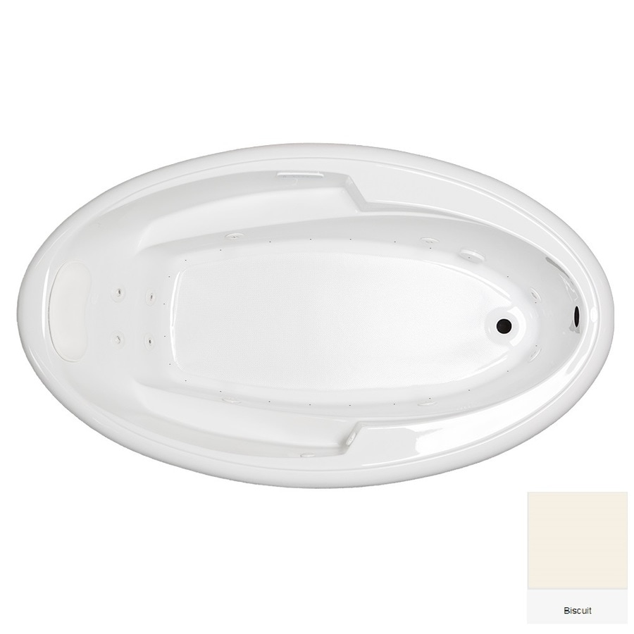 Laurel Mountain Vansant III 72-in Biscuit Acrylic Drop-In Whirlpool Tub And Air Bath with Reversible Drain