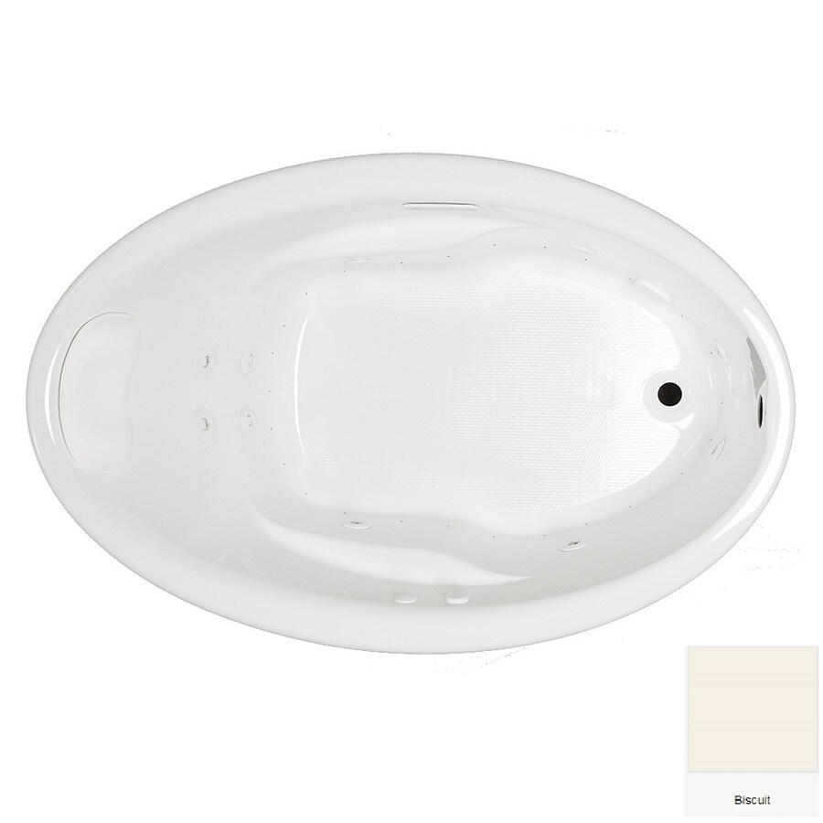 Shop Laurel Mountain Ivy 57-in Biscuit Acrylic Drop-In Whirlpool Tub ...