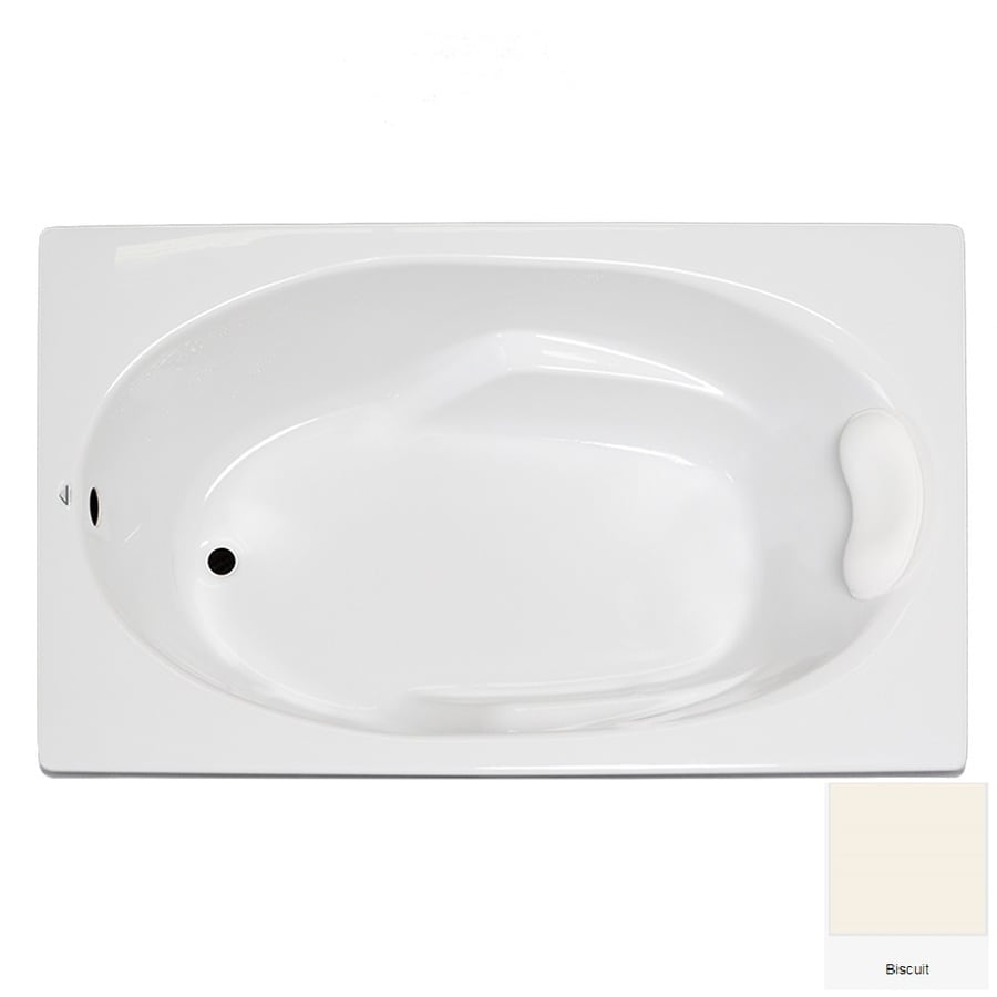 Laurel Mountain Faber 59-in Biscuit Acrylic Drop-In Bathtub with Reversible Drain