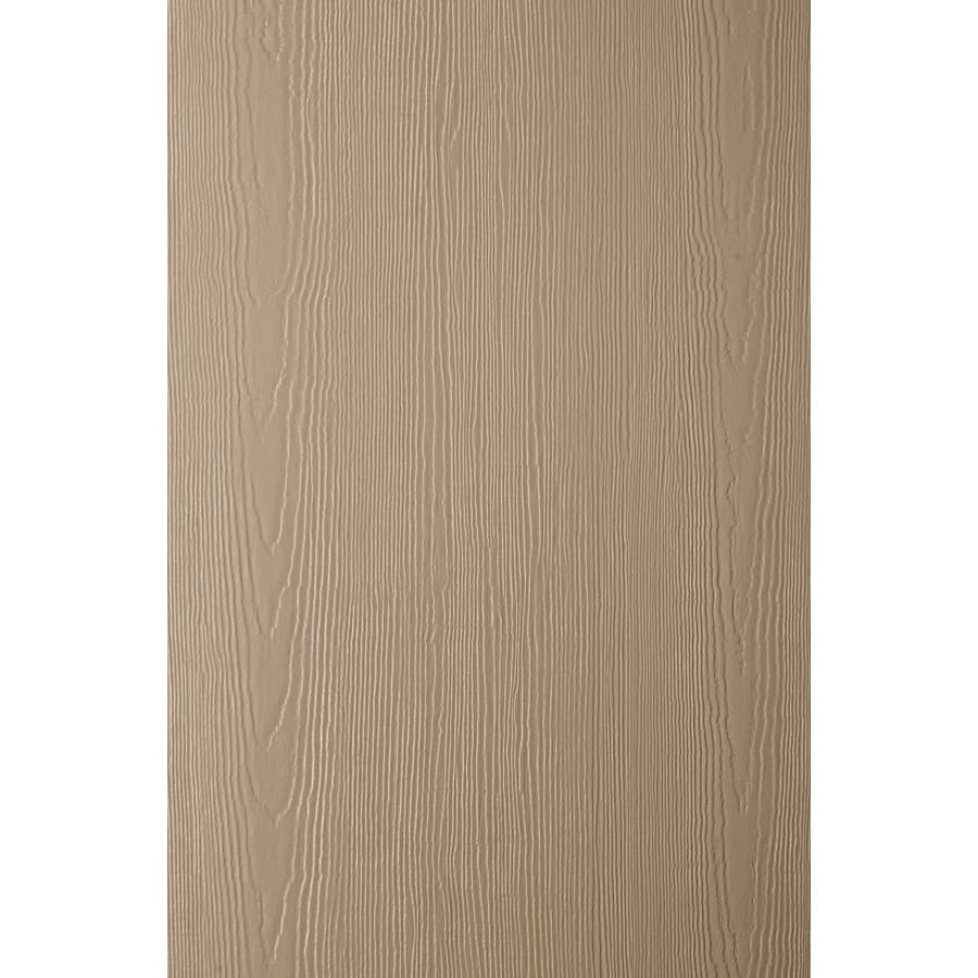 James Hardie (Actual: 0.312-in x 48-in x 120-in) HardiePanel Primed Khaki Brown Cedarmill Vertical Fiber Cement Siding Panel