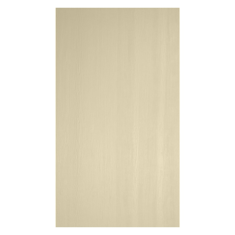 James Hardie (Actual: 0.312-in x 48-in x 120-in) HardiePanel Primed Navajo Beige Cedarmill Vertical Fiber Cement Siding Panel