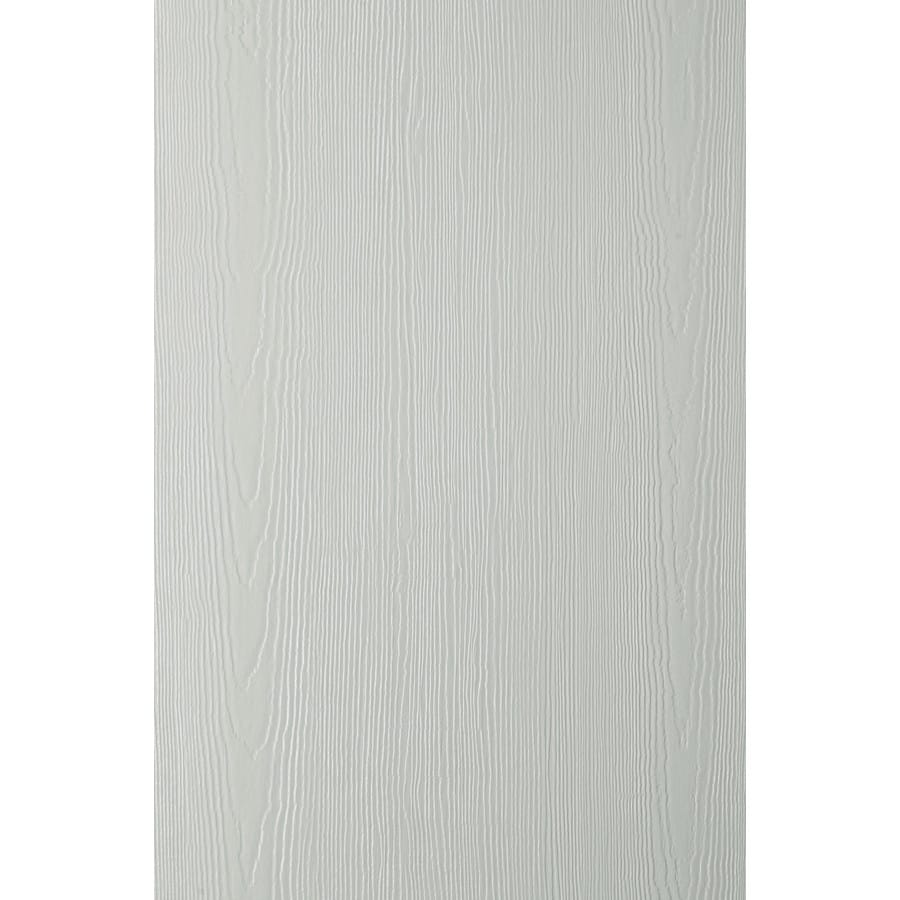 James Hardie (Actual: 0.312-in x 48-in x 120-in) HardiePanel Primed Light Mist Cedarmill Vertical Fiber Cement Siding Panel