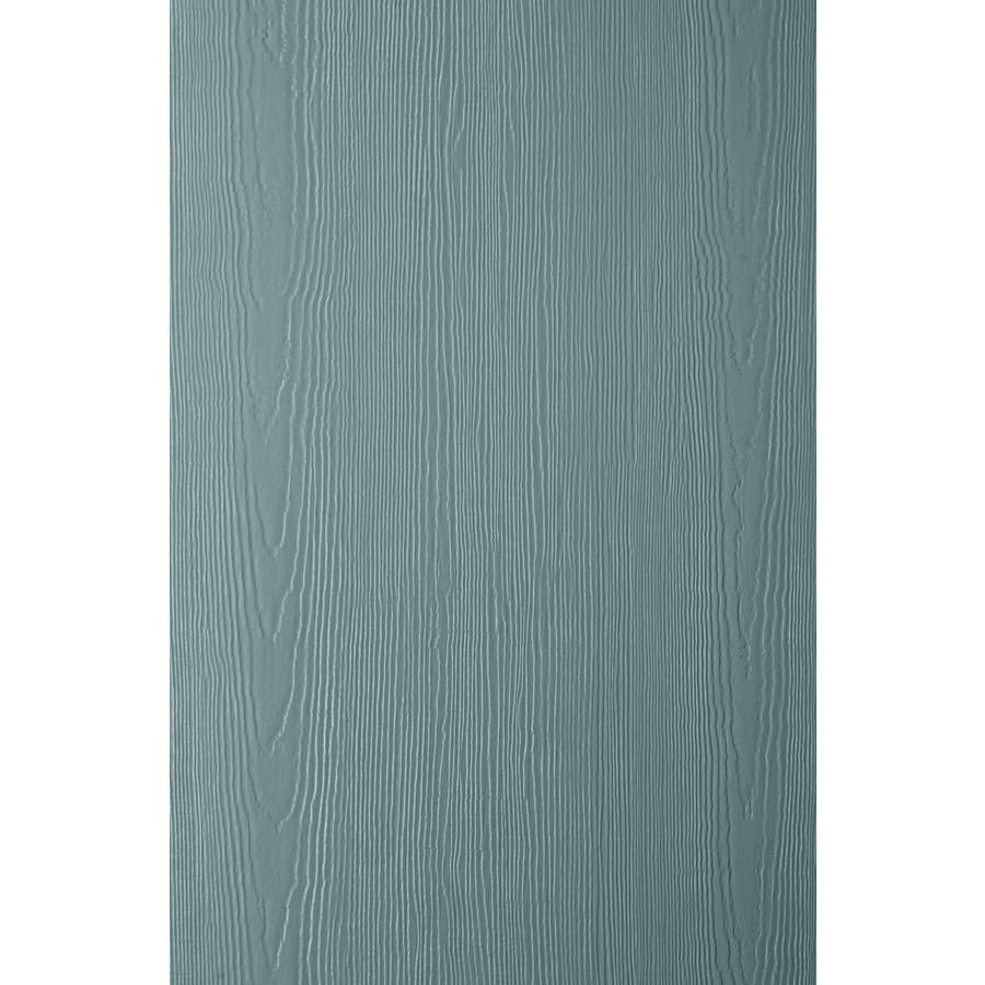 James Hardie (Actual: 0.312-in x 48-in x 120-in) HardiePanel Primed Boothbay Blue Cedarmill Vertical Fiber Cement Siding Panel