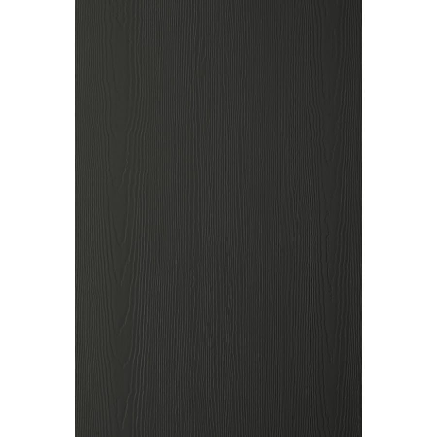 James Hardie (Actual: 0.312-in x 48-in x 120-in) HardiePanel Primed Iron Gray Cedarmill Vertical Fiber Cement Siding Panel
