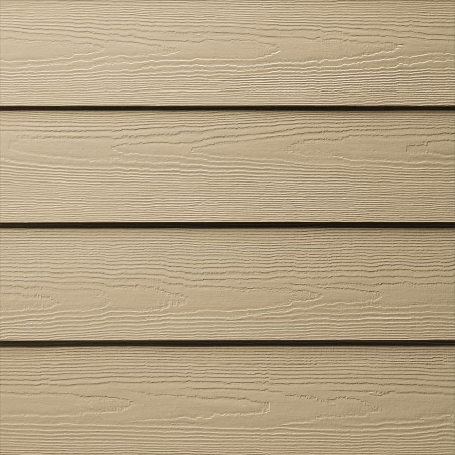 James Hardie HardiePlank Primed Autumn Tan Cedarmill Lap Fiber Cement Siding Panel (Actual: 0.312-in x 6.25-in x 144-in)