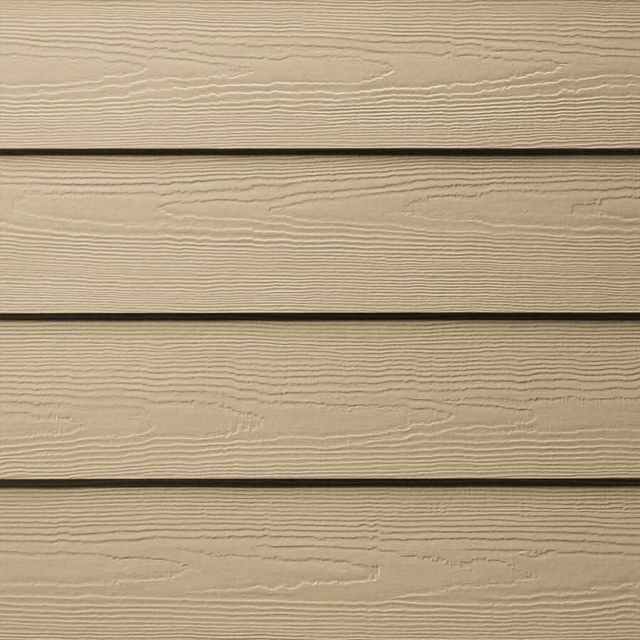 James Hardie (Actual: 0.312-in x 6.25-in x 144-in) HardiePlank Primed Autumn Tan Cedarmill Lap Fiber Cement Siding Panel