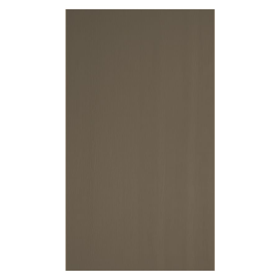 James Hardie (Actual: 0.312-in x 48-in x 120-in) HardiePanel Primed Woodstock Brown Cedarmill Vertical Fiber Cement Siding Panel