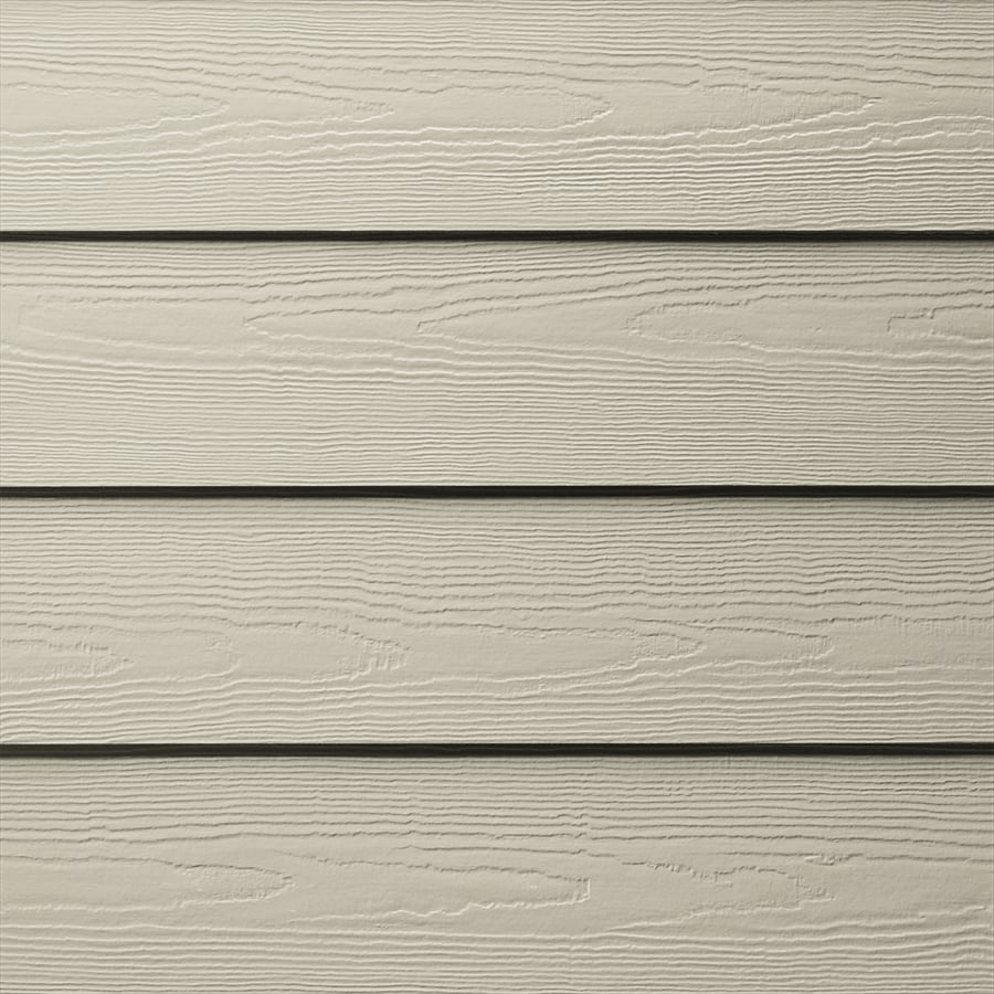 James Hardie HardiePlank Primed Cobble Stone Cedarmill Lap Fiber Cement Siding Panel (Actual: 0.312-in x 5.25-in x 144-in)