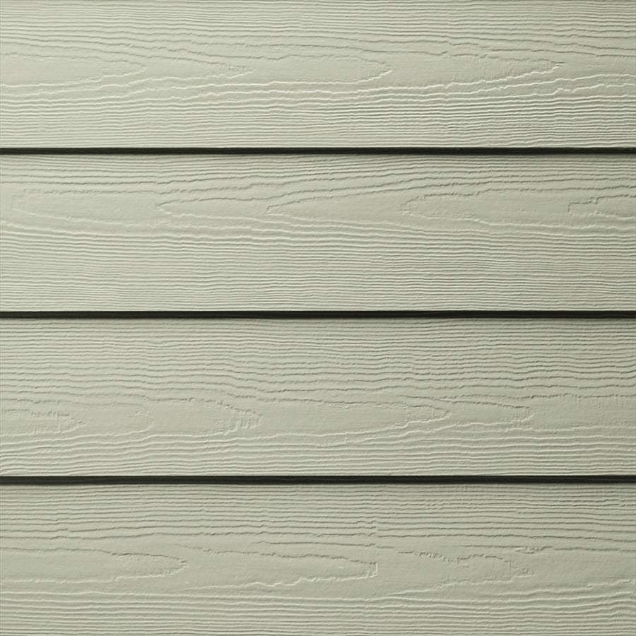 Hardi Plank Siding >> Shop James Hardie 5.25-in x 144-in HardiePlank Soft Green Cedarmill Fiber Cement Lap Siding at ...