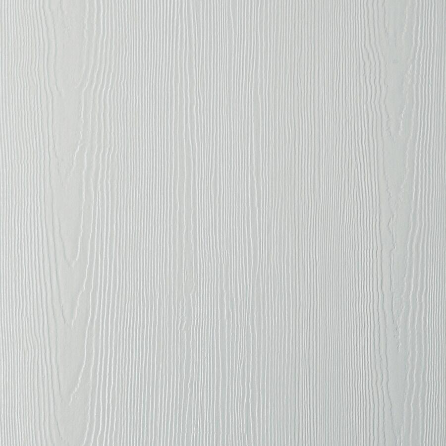 James Hardie (Actual: 0.312-in x 48-in x 96-in) HardiePanel Primed Light Mist Cedarmill Vertical Fiber Cement Siding Panel