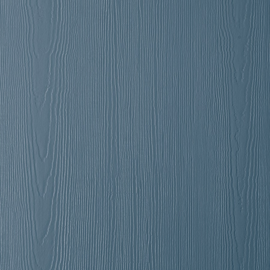 James Hardie HardiePanel Primed Evening Blue Cedarmill Vertical Fiber Cement Siding Panel (Actual: 0.312-in x 48-in x 96-in)