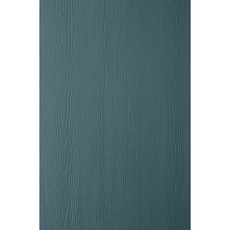 James Hardie (Actual: 0.312-in x 48-in x 120-in) HardiePanel Primed Evening Blue Cedarmill Vertical Fiber Cement Siding Panel