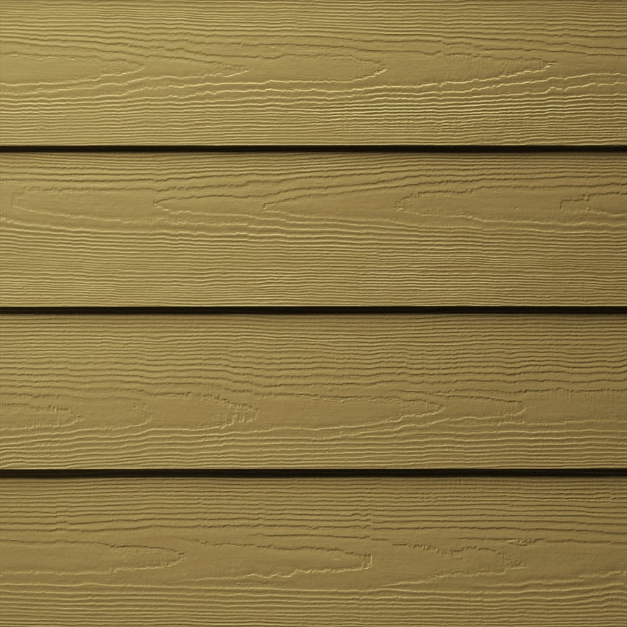 James Hardie HardiePlank Primed Tuscan Gold Cedarmill Lap Fiber Cement Siding Panel (Actual: 0.312-in x 5.25-in x 144-in)
