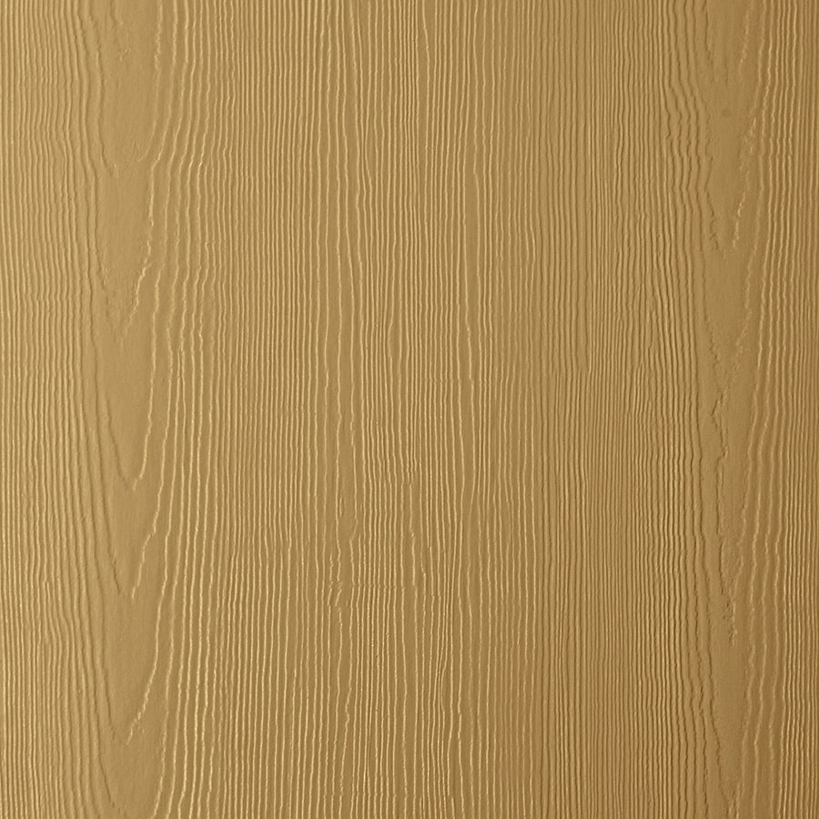 James Hardie (Actual: 0.312-in x 48-in x 120-in) HardiePanel Primed Tuscan Gold Cedarmill Vertical Fiber Cement Siding Panel