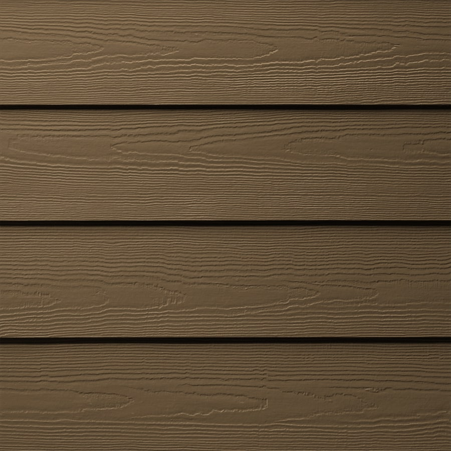 James Hardie HardiePlank Primed Chestnut Brown Cedarmill Lap Fiber Cement Siding Panel (Actual: 0.312-in x 5.25-in x 144-in)