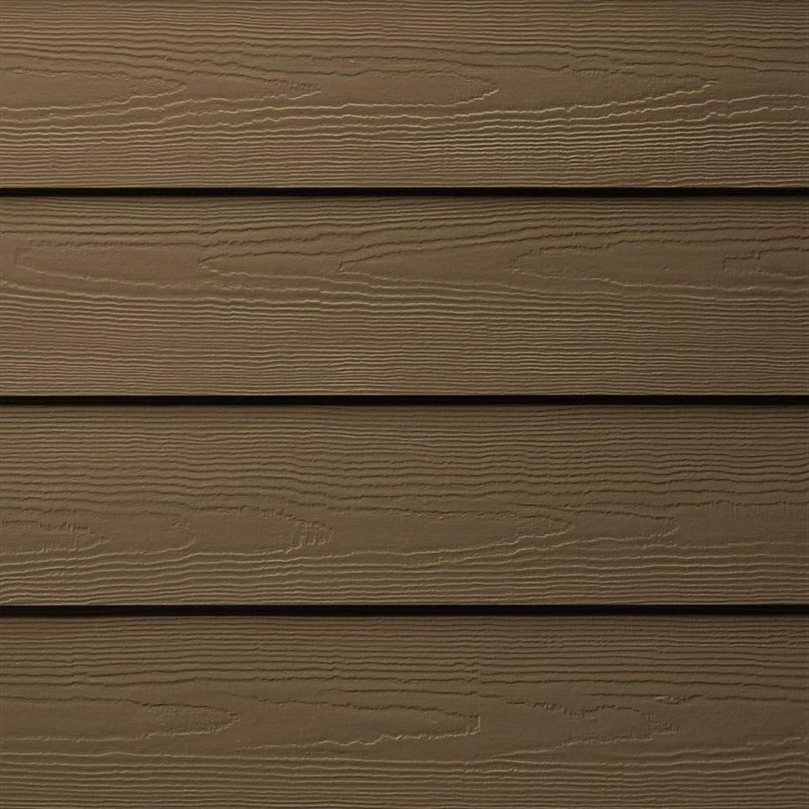 James Hardie (Actual: 0.312-in x 5.25-in x 144-in) HardiePlank Primed Chestnut Brown Cedarmill Lap Fiber Cement Siding Panel